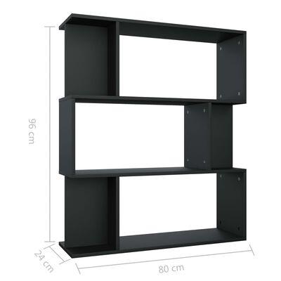 vidaXL Boekenkast/kamerscherm 80x24x96 cm spaanplaat zwart