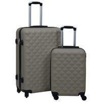 vidaXL 2-delige Harde kofferset ABS antraciet