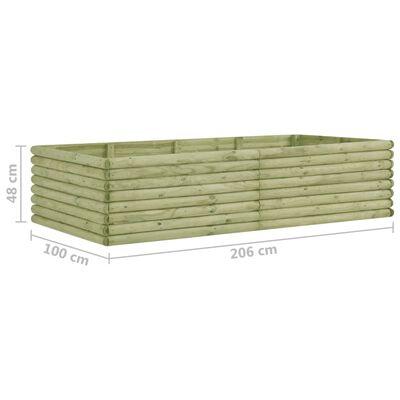 vidaXL Plantenbak verhoogd 206x100x48 cm geïmpregneerd grenenhout