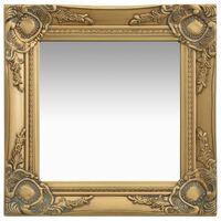vidaXL Wandspiegel barok stijl 40x40 cm goudkleurig