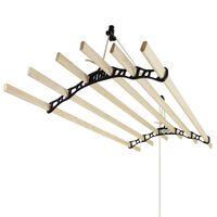 Droogrek plafond ophangbaar - Zwart - 180cm (L) x 56cm (W) x 14cm (H)