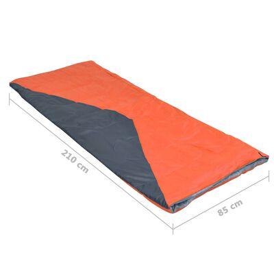 vidaXL Slaapzakken 2 st envelop lichtgewicht 10 ℃ 1100 g oranje