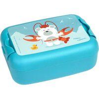 Amuse broodtrommel Animal Carnival Polar Bear 1 liter blauw