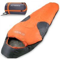 Icy North slaapzak Oranje bij buitentemperatuur - 13 tot +6 graden.