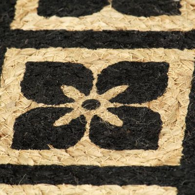 vidaXL Placemats 6 st rond 38 cm jute zwart