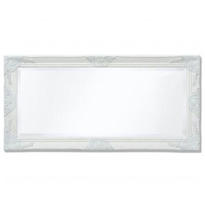 vidaXL Wandspiegel Barok 100 x 50 cm wit