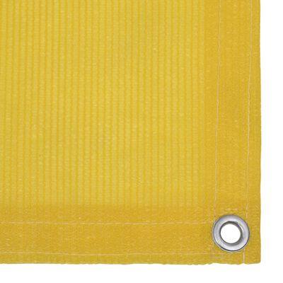 vidaXL Balkonscherm 90x400 cm HDPE geel
