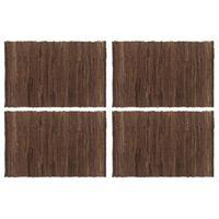 vidaXL Placemats 4 st chindi 30x45 cm katoen bruin
