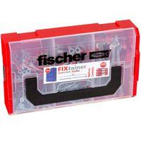 Fischer Wandpluggen met schroeven 200 st FIXtainer DUOPOWER/DUOTEC