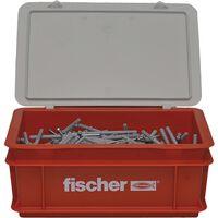 Fischer Nagelschroevenset met pluggen 400 st N6x60