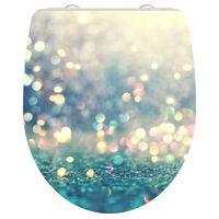 SCHÜTTE Toiletbril met soft-close MAGIC LIGHT duroplast hoogglans