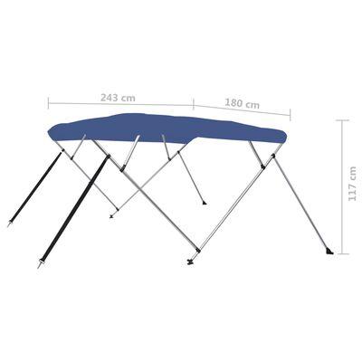 vidaXL Biminitop 4-boogs 243x180x137 cm blauw