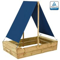 vidaXL Zandbak met dak 80x60x97,5 cm geïmpregneerd grenenhout