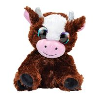 Lumo Stars knuffel Lumo Cow Molly 15 cm bruin