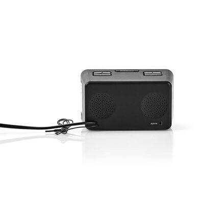 """Nedis CLAR002BK Digitale Wekkerradio Led Van 0,9"""" Fm 20 Voorke..."""