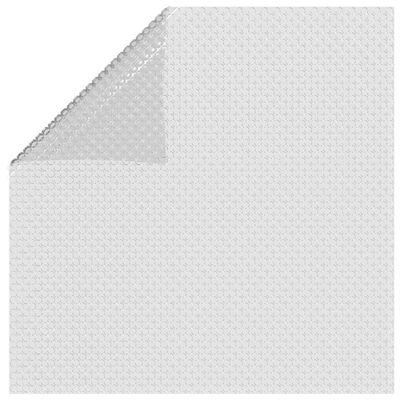 vidaXL Zwembadfolie solar drijvend 732x366 cm PE grijs