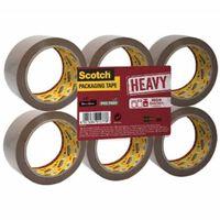 Scotch verpakkingsplakband Heavy, ft 50 mm x 66 m, bruin, pak van 6...