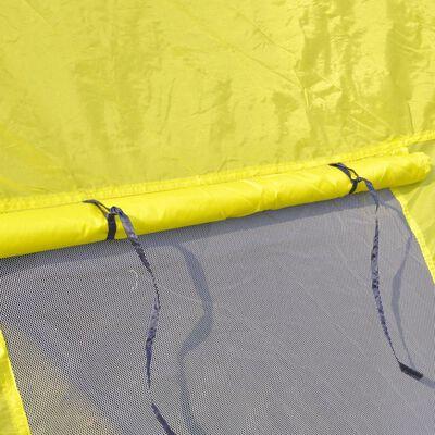 Polyester Kampeertent 6-persoons (blauw/geel)
