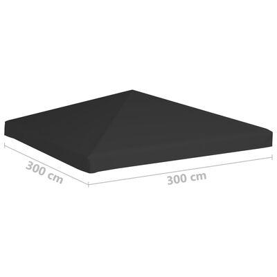 vidaXL Prieeldak 270 g/m² 3x3 m zwart