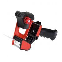 1x Tesa verpakkingstaperoller roldispenser zwart/rood - Klusmateriaal