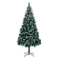 vidaXL Kunstkerstboom met dennenappels en witte sneeuw 240 cm