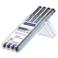 Staedtler fineliner Pigment Liner opstelbare box met 4 stuks (0,1 -...