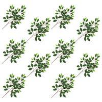 vidaXL Kunstbladeren vijg 10 st 65 cm groen en wit