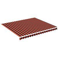 vidaXL Vervangingsdoek voor luifel 4x3,5 m oranje en bruin