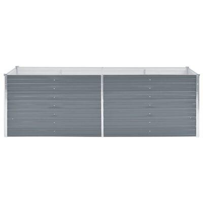 vidaXL Plantenbak verhoogd 240x80x77 cm gegalvaniseerd staal grijs , Grey