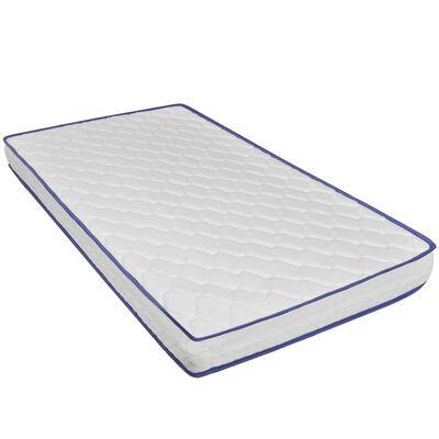 vidaXL Bed met traagschuim matras kunstleer wit 120x200 cm
