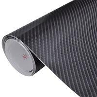 Carbon vinyl auto wrapping folie 4D zwart 200 x 152 cm