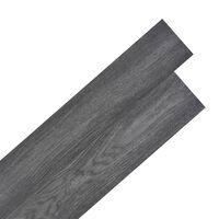 vidaXL Vloerplanken zelfklevend 5,02 m² 2 mm PVC zwart en wit