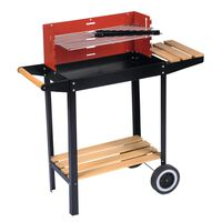 BBQ collection houtskool barbecue - op wielen - windscherm
