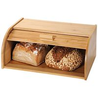 Broodtrommel met rolluik - FSC Bamboe houten brooddoos met