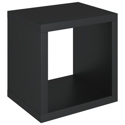 vidaXL Wandschap kubus 37x29,5x37 cm MDF zwart