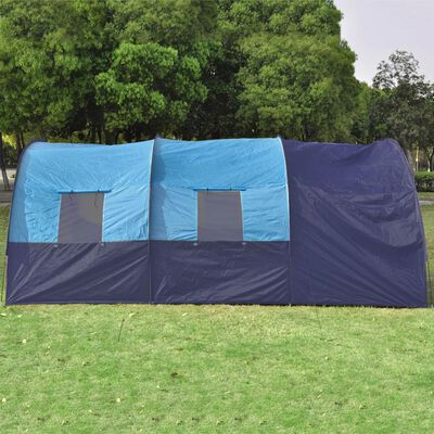 vidaXL Tent 6-persoons polyester donkerblauw en blauw