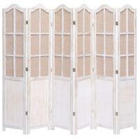 vidaXL Kamerscherm met 6 panelen 210x165 cm stof wit