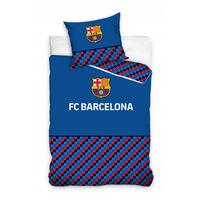 FC Barcelona dekbedovertrek geblokt 140 x 200 cm blauw