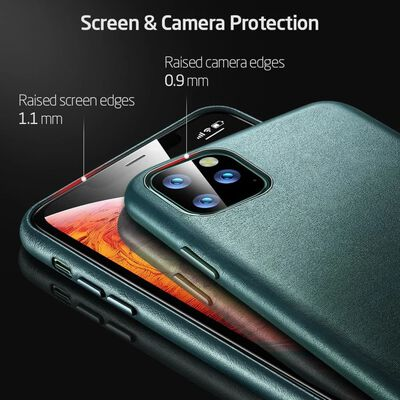 ESR - telefoonhoesje - Apple iPhone 11 Pro Max - Metro Leather - Groen