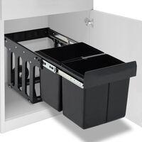 vidaXL Inbouwprullenbak uittrekbaar soft-close 36 L