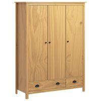 vidaXL Kledingkast met 3 deuren Hill Range 127x50x170 cm grenenhout