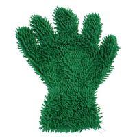 washandschoen Gorilla microvezel/mesh 24x26 cm groen