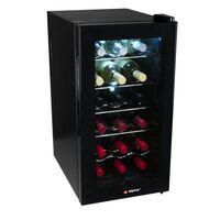 Alpina Wijnkoelkast - Wijnklimaatkast - 50 Liter - 18 Flessen - Zwart