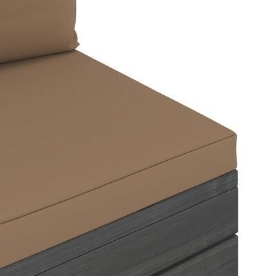 vidaXL 4-delige Loungeset met kussens pallet massief grenenhout