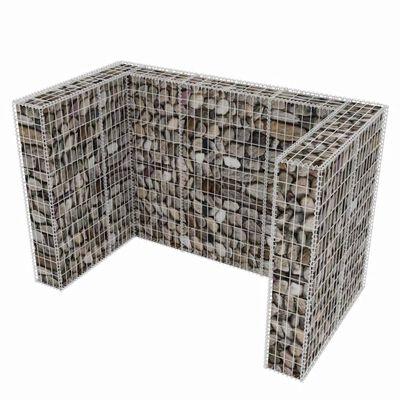 vidaXL Schanskorf dubbele vuilnisbak ombouw 180x100x120 cm staal