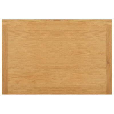 vidaXL Kledingkast 76x52x105 cm massief eikenhout