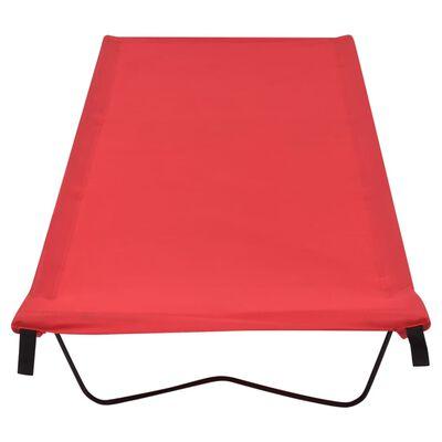 vidaXL Campingbed 180x60x19 cm oxford stof en staal rood