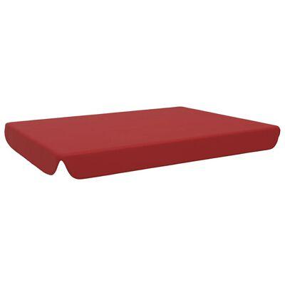 vidaXL Vervangingsluifel voor schommelbank 192x147 cm bordeauxrood