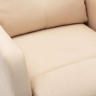 vidaXL Sta-op-massagestoel verstelbaar stof crème