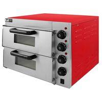 Kukoo Elektrische Pizza Oven Twee Kamers